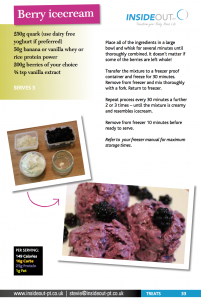 Berry icecream recipe
